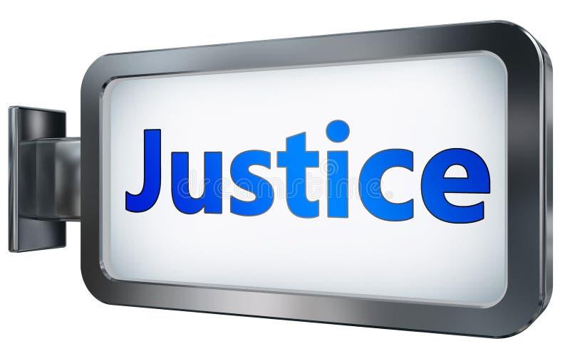 Justicia en fondo de la cartelera stock de ilustración