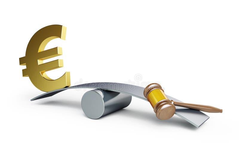 Justicia o dinero stock de ilustración