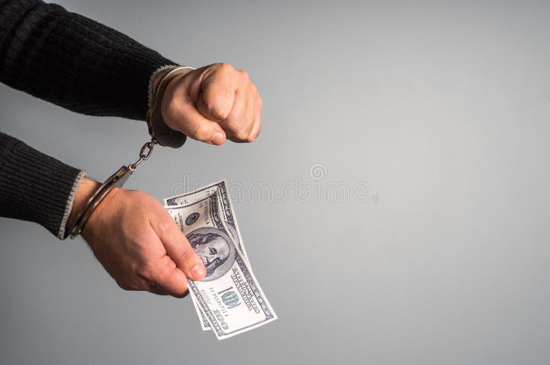 Justicia para el dinero fotos de archivo