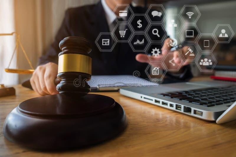 Justicia y concepto de la ley foto de archivo