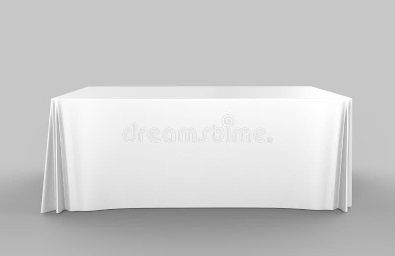 Justierbare Fahne oder Tischdecke Stoff der Messenausstellungswerbungsläufertabelle 3d übertragen Abbildung stock abbildung