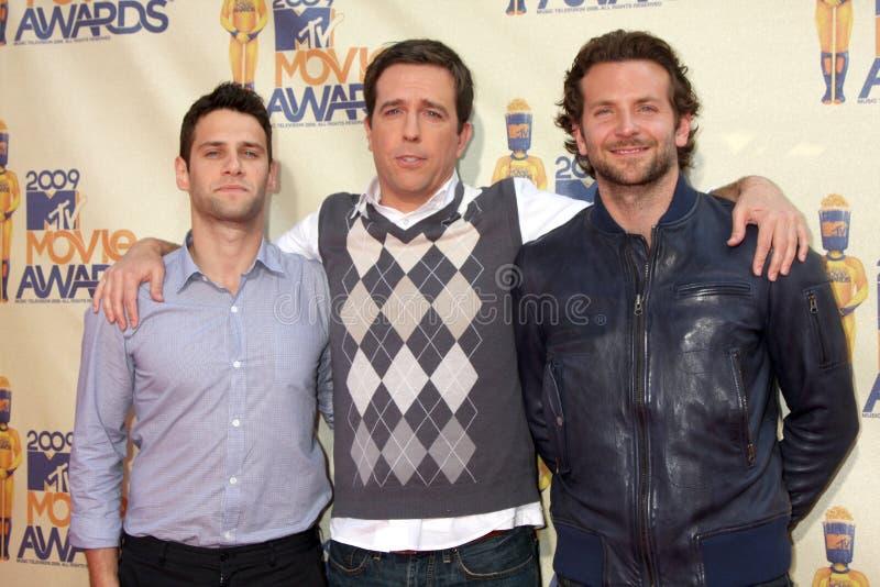 Justin Bartha Ed röder, Bradley Cooper royaltyfria bilder