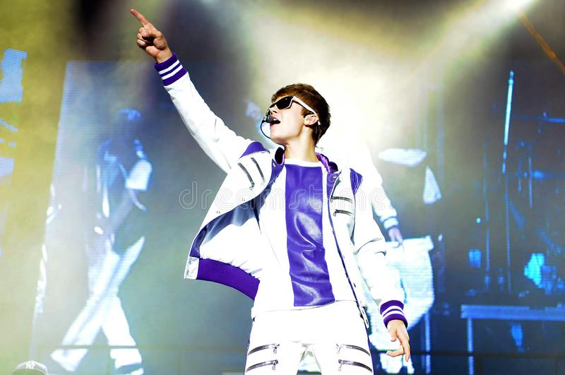 Justin Bieber imagens de stock royalty free