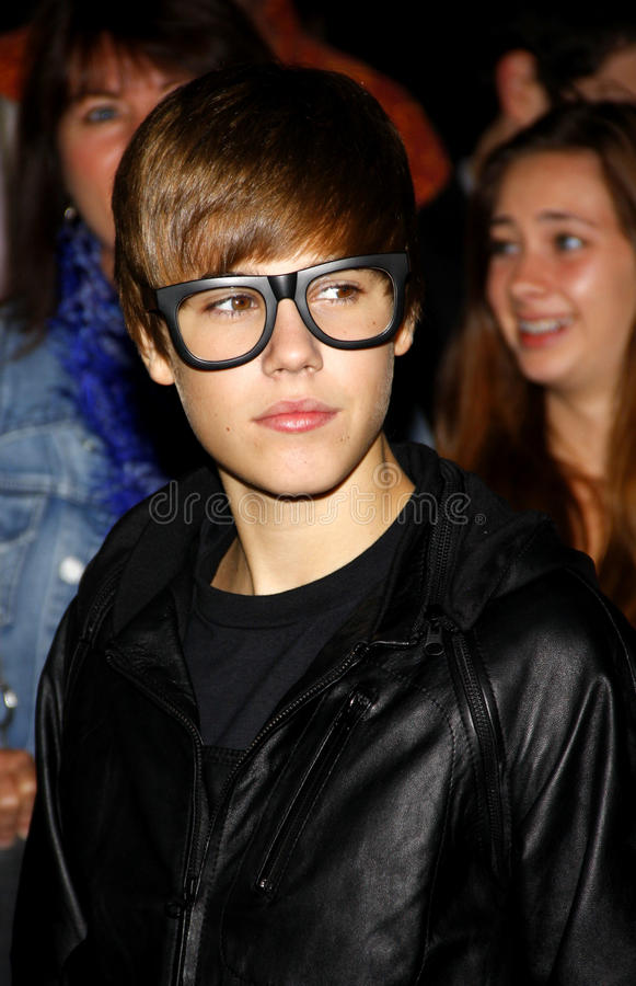 Justin Bieber photographie stock