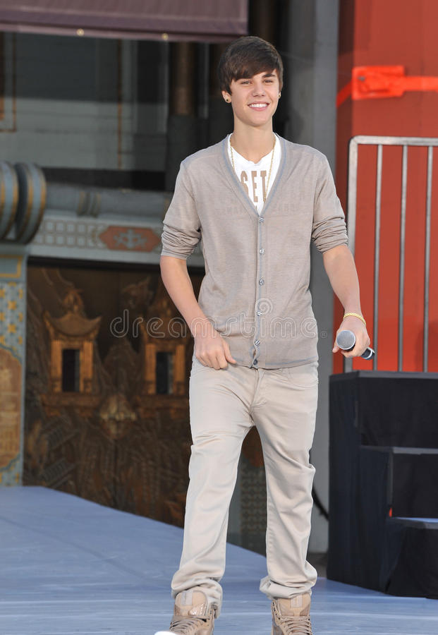 Justin Bieber, Cirque du Soleil, Michael Jackson photo stock