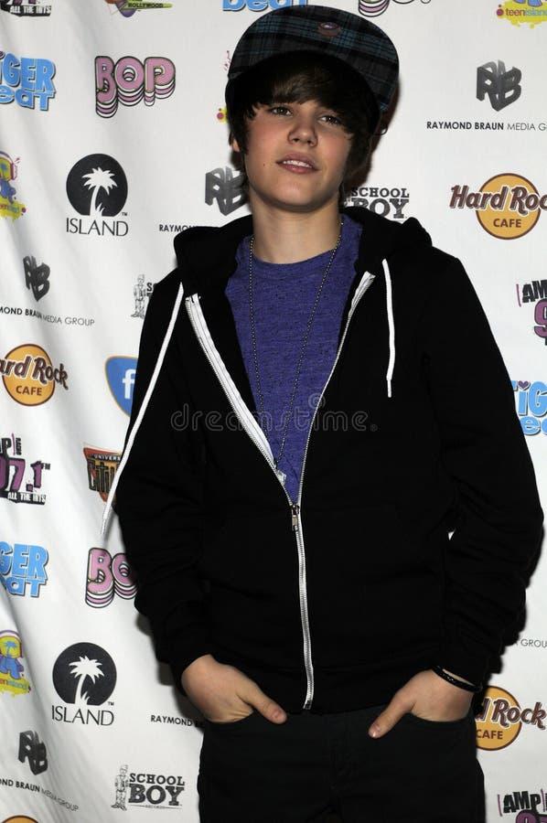 Justin Bieber que parece vivo. imagens de stock royalty free