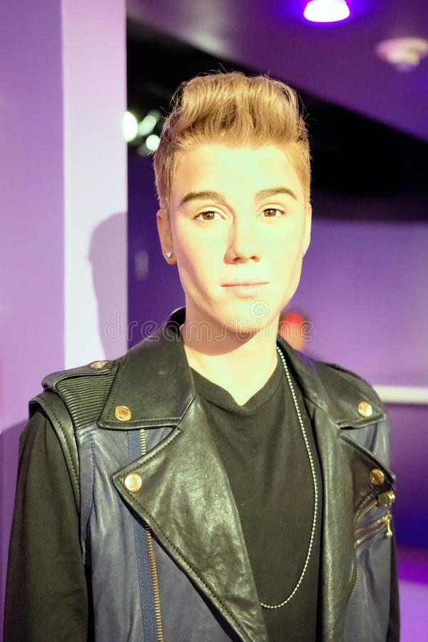 Justin Bieber Wax Figure photographie stock