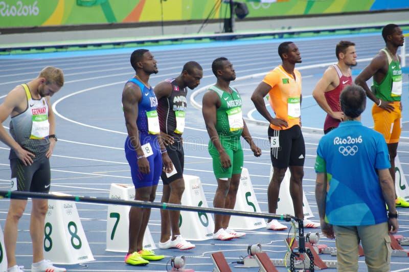 Justin Gatlin, ένα αμερικανικό sprinter στοκ φωτογραφία με δικαίωμα ελεύθερης χρήσης