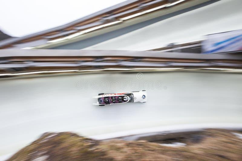 Justin Kripps BMW IBSF puchar świata Koenigssee 2016 obrazy stock