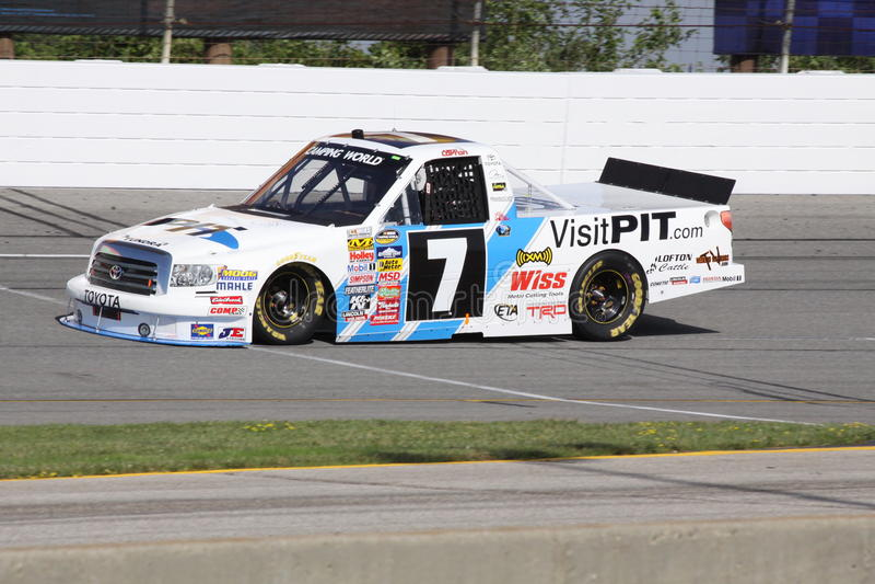 Download Justin Lofton 7 NASCAR Truck Series Qualifying ORP Editorial Image - Image: 17644875