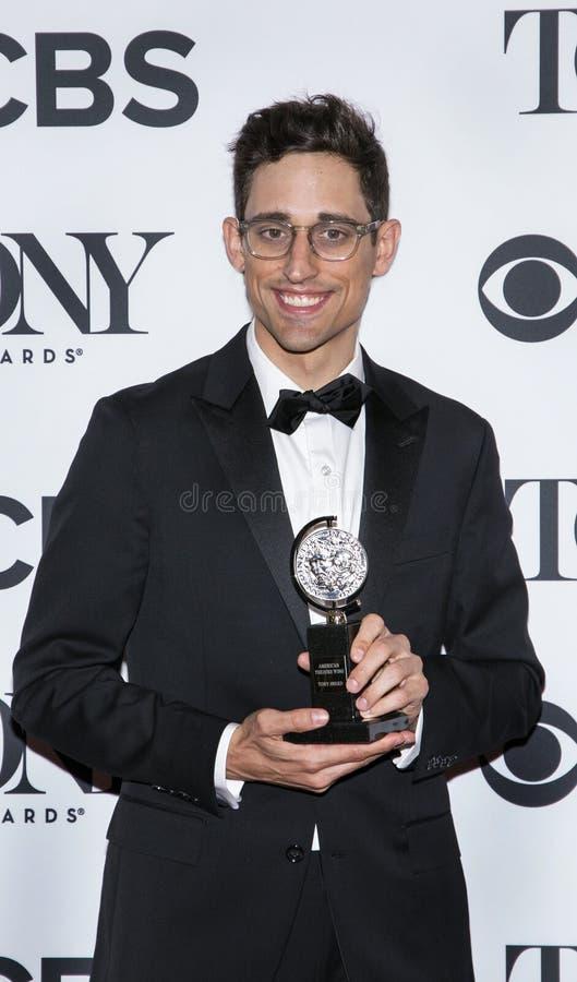 Justin Peck en Tony Awards 2018 fotos de archivo