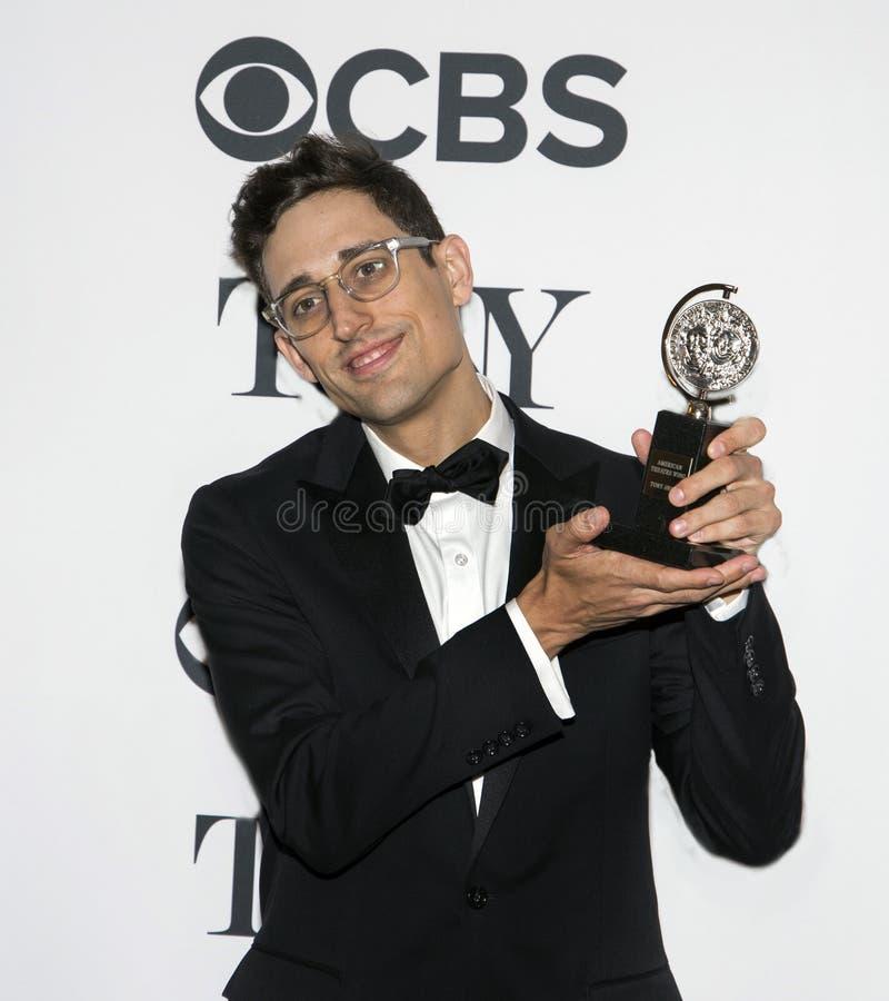 Justin Peck på Tony Awards 2018 royaltyfria bilder