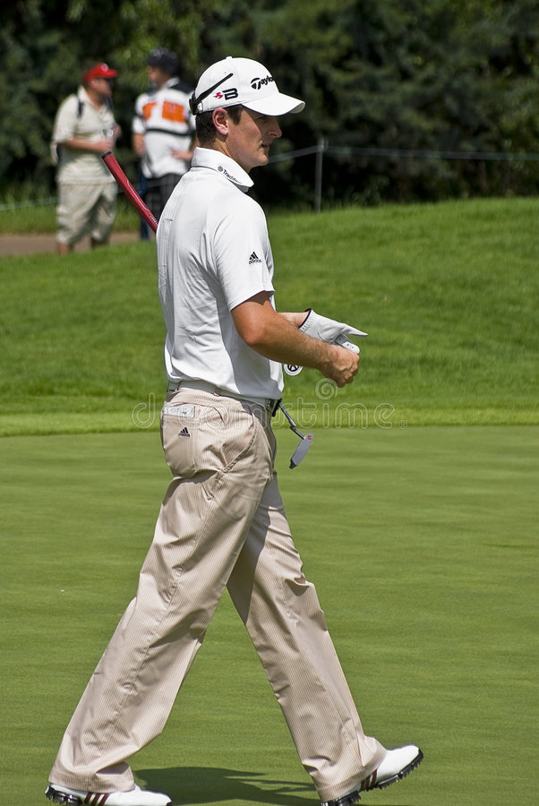 Justin Rose surveys the Green royalty free stock images