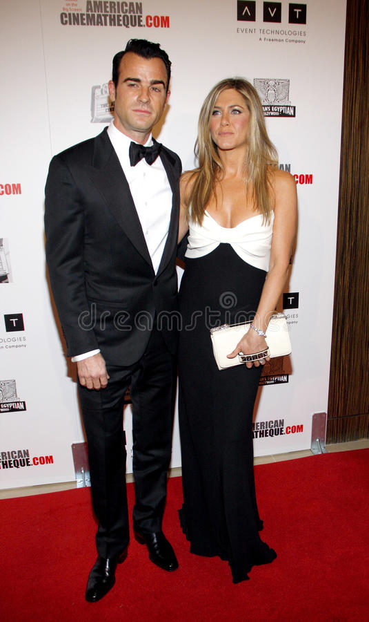 Justin Theroux et Jennifer Aniston image stock