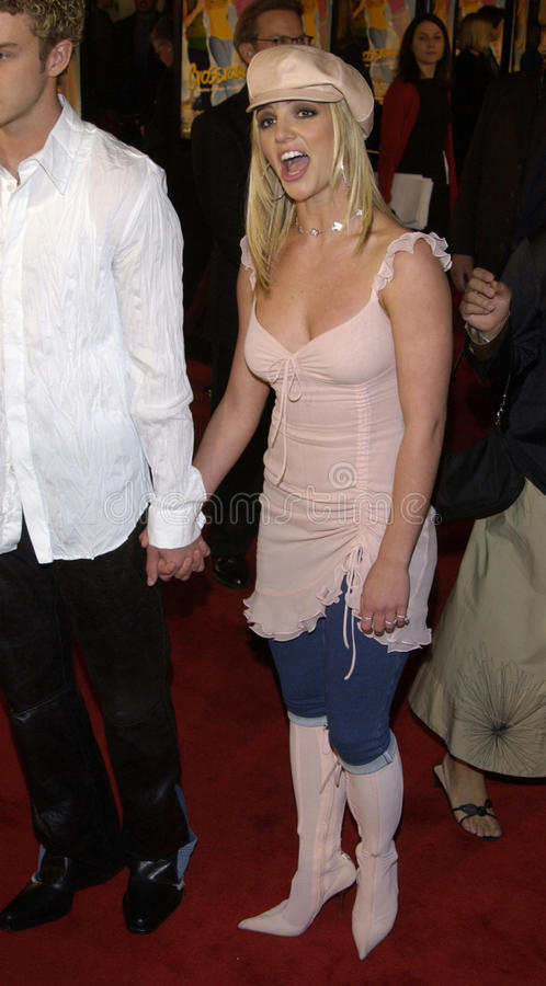 Justin Timberlake Britney Spears arkivbild