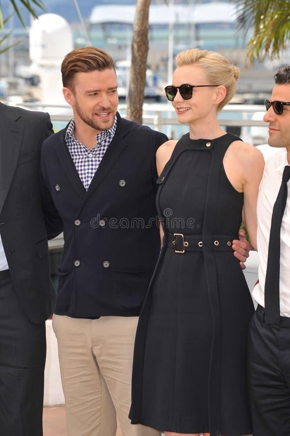 Justin Timberlake & Carey Mulligan & Oscar Isaac royaltyfri foto