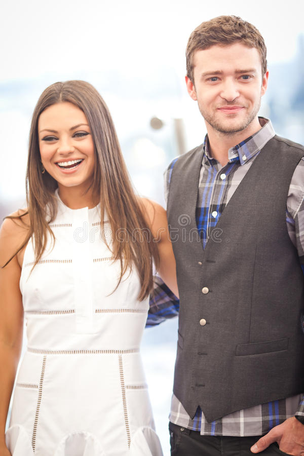 Justin Timberlake e Mila Kunis imagem de stock royalty free
