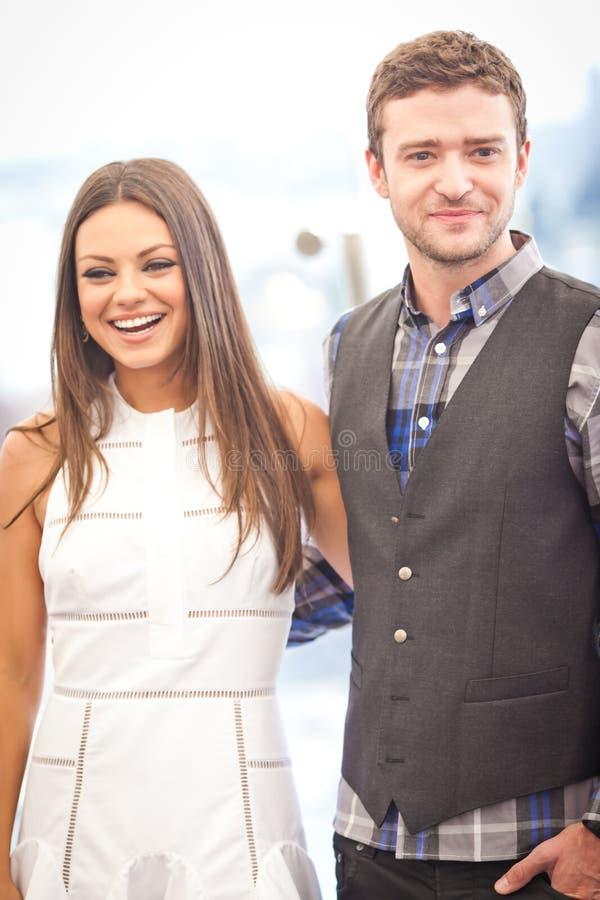 Justin Timberlake en Mila Kunis royalty-vrije stock afbeelding