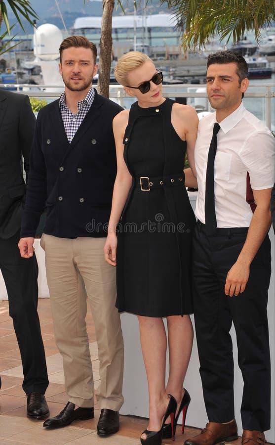 Justin Timberlake et Carey Mulligan et Oscar Isaac photo stock