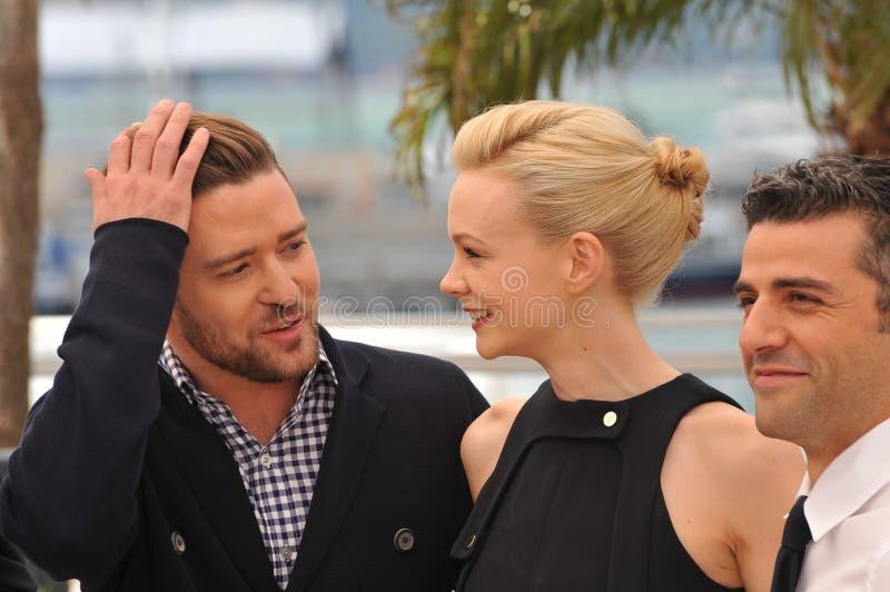 Justin Timberlake et Carey Mulligan et Oscar Isaac image libre de droits