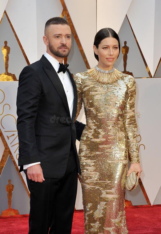 Justin Timberlake et Jessica Biel image stock