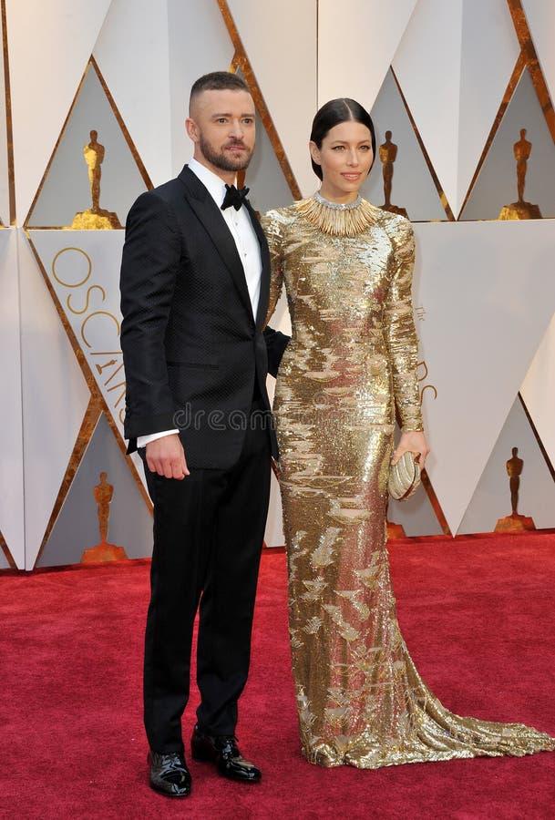 Justin Timberlake et Jessica Biel photo libre de droits