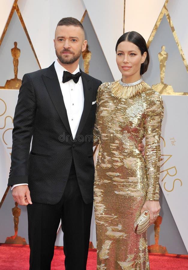 Justin Timberlake et Jessica Biel photo stock