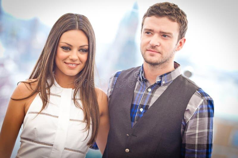Justin Timberlake et Mila Kunis photo libre de droits