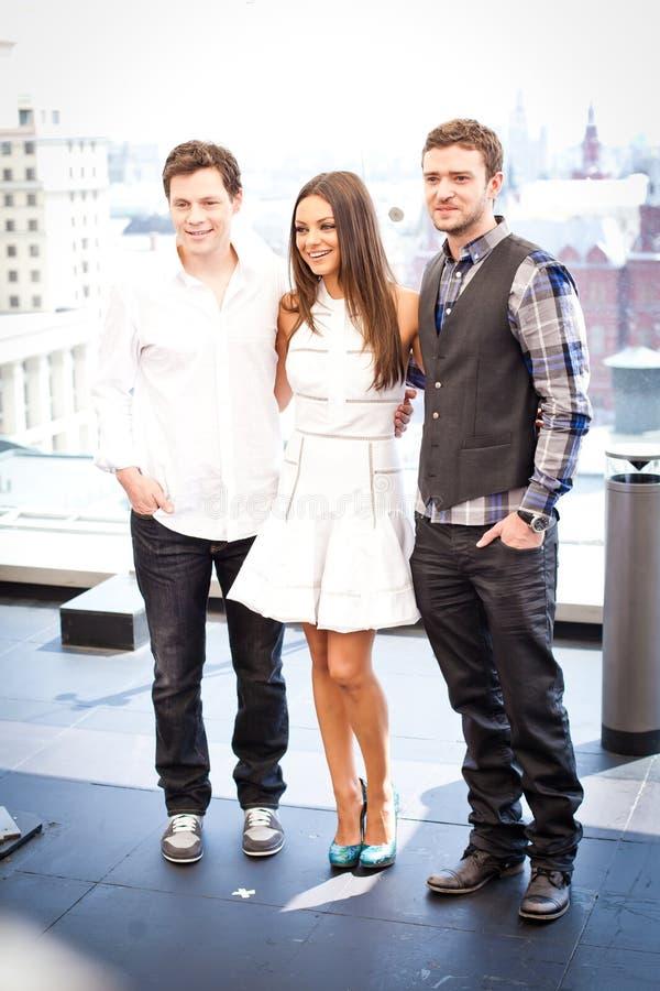 Justin Timberlake et Mila Kunis photos libres de droits