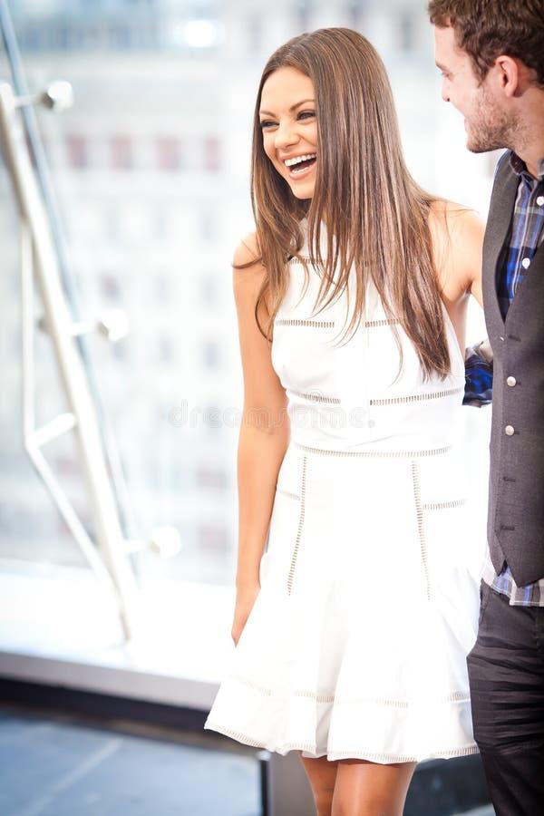 Justin Timberlake et Mila Kunis images libres de droits