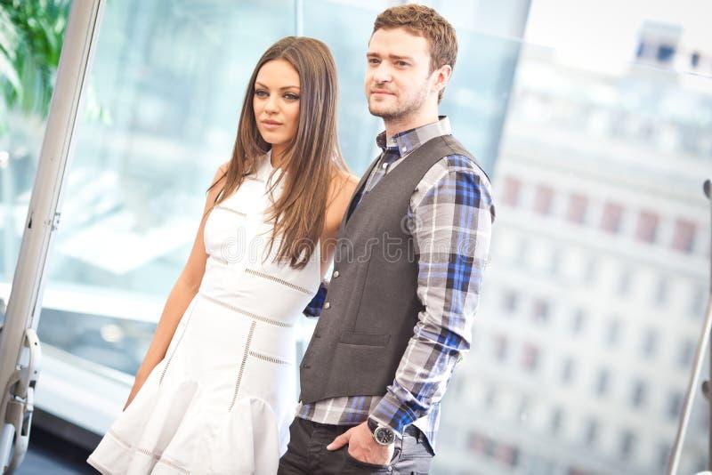 Justin Timberlake et Mila Kunis image stock