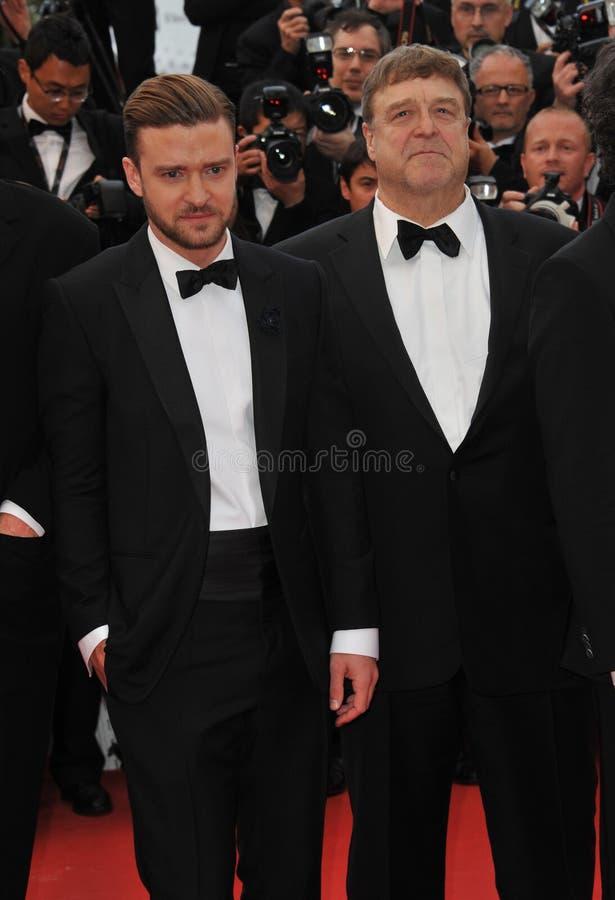 Justin Timberlake & John Goodman royaltyfria bilder