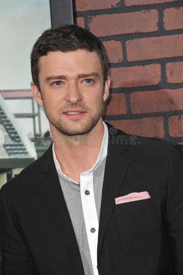 Justin Timberlake. LOS ANGELES, CA - September 19, 2012: Justin Timberlake at the premiere of his movie \'Trouble With The Curve\' at the Mann Village Theatre stock image