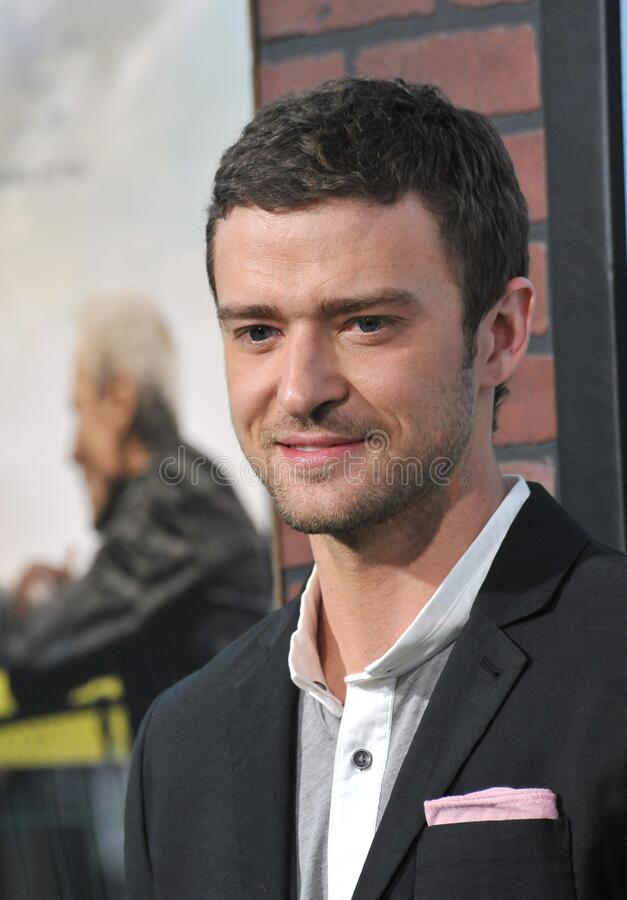 Justin Timberlake. LOS ANGELES, CA - September 19, 2012: Justin Timberlake at the premiere of his movie \'Trouble With The Curve\' at the Mann Village Theatre stock photography
