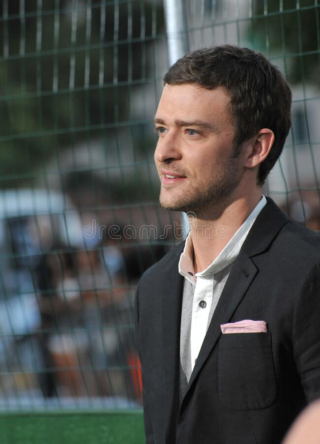 Justin Timberlake. LOS ANGELES, CA - September 19, 2012: Justin Timberlake at the premiere of his movie \'Trouble With The Curve\' at the Mann Village Theatre royalty free stock photos