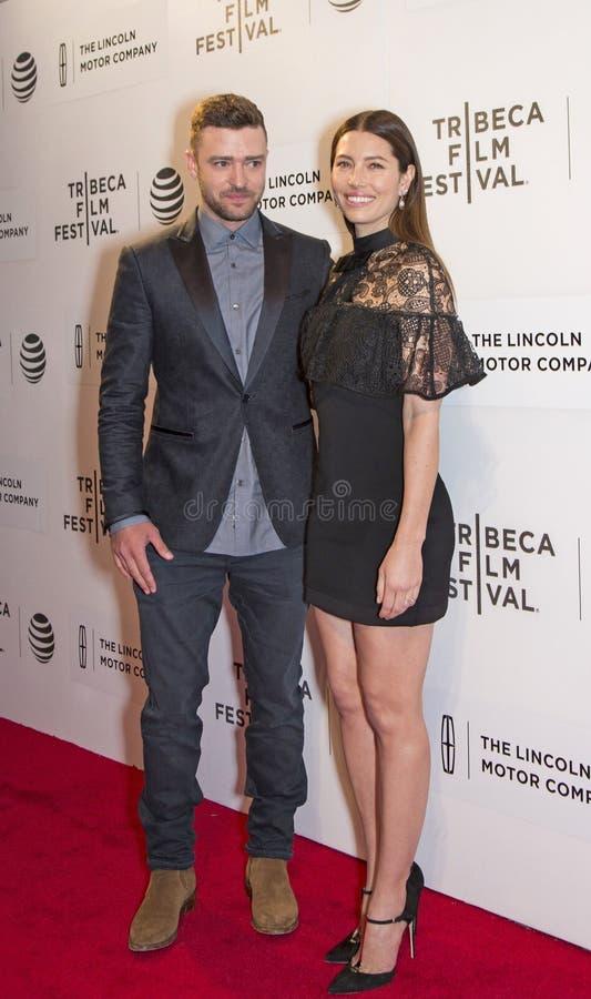 Justin Timberlake und Jessica Biel stockfoto