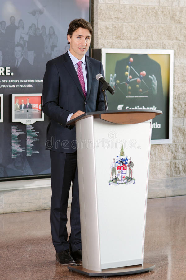 Justin Trudeau royaltyfri fotografi