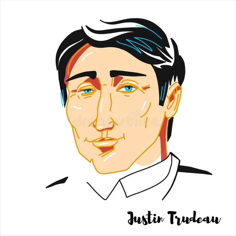 Justin Trudeau Portrait vektor illustrationer