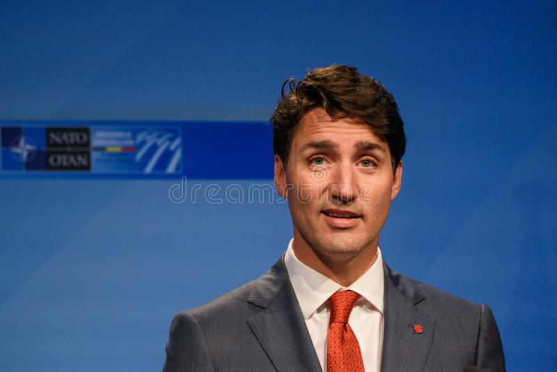 Justin Trudeau, Prime Minister of Canada royalty free stock images