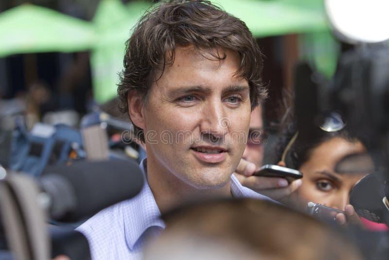 Justin Trudeau Scrum fotos de archivo libres de regalías