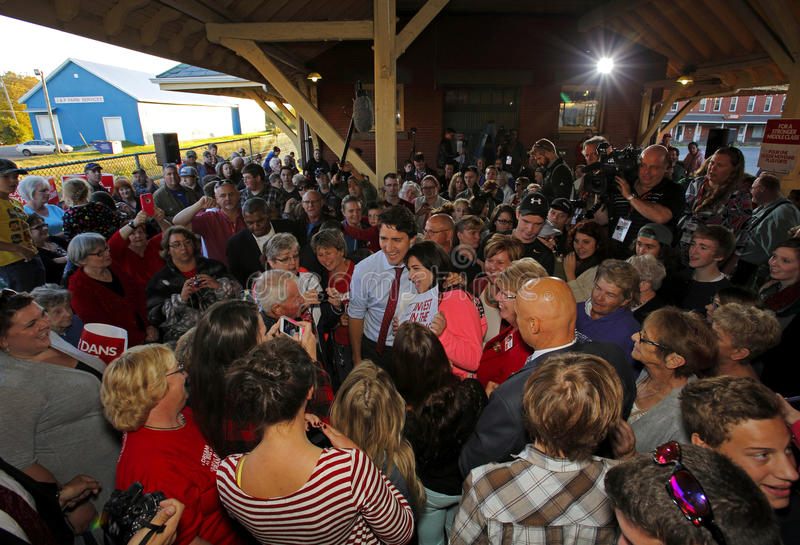 Justin Trudeau Sussex Crowd People photo stock