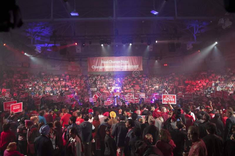 Justin Trudeau-Wahlkampfkundgebung lizenzfreie stockfotografie