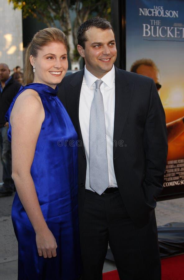Justin Zackham et épouse Katherine photo libre de droits