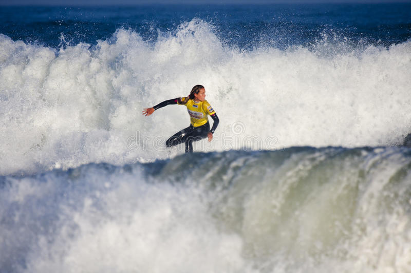 Justine Dupont at the Swatch Pro France stock photo