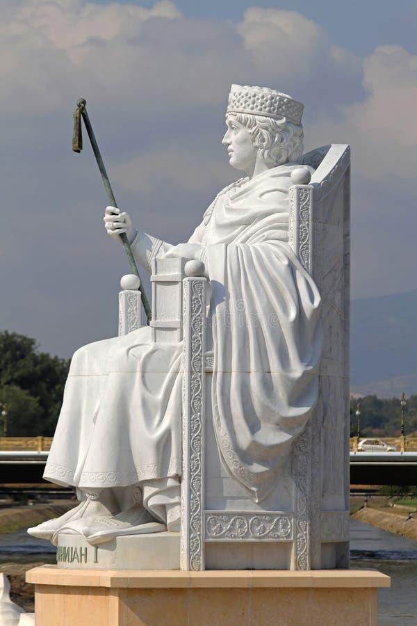 Justinian статуя I стоковая фотография rf