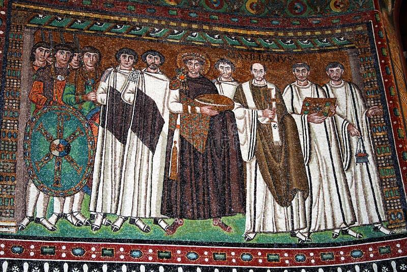 Justinian mosaik royaltyfri bild