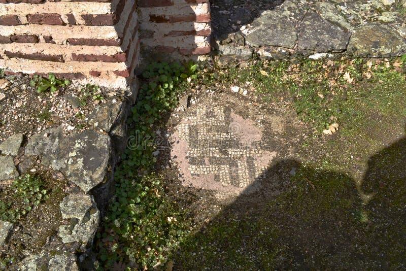 Justiniana Prima część mozaika na podłoga obrazy stock