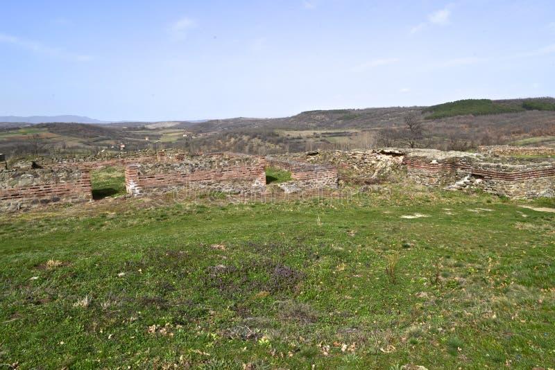 Justiniana Prima, Romański Bizantyjski miasto ściany obrazy stock