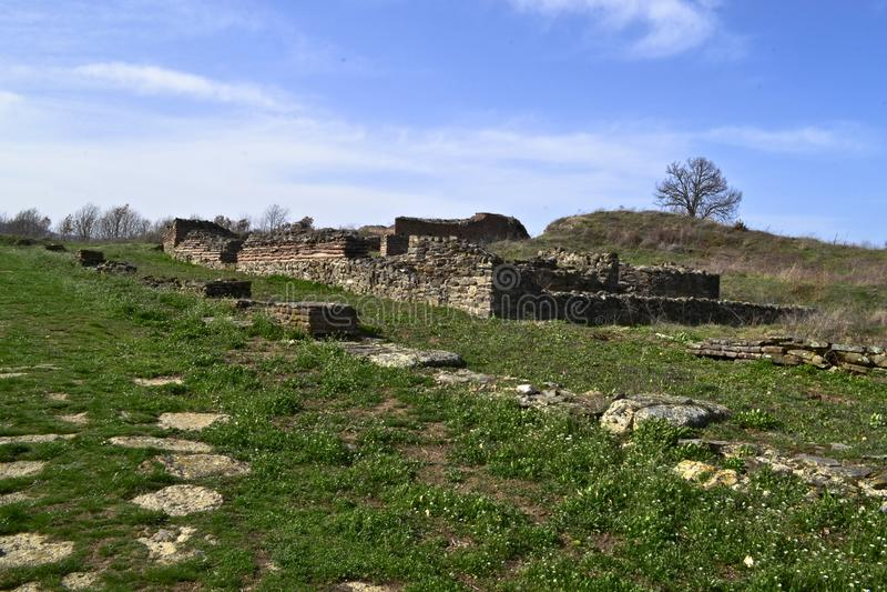 Justiniana Prima, Romański Bizantyjski miasto obrazy stock