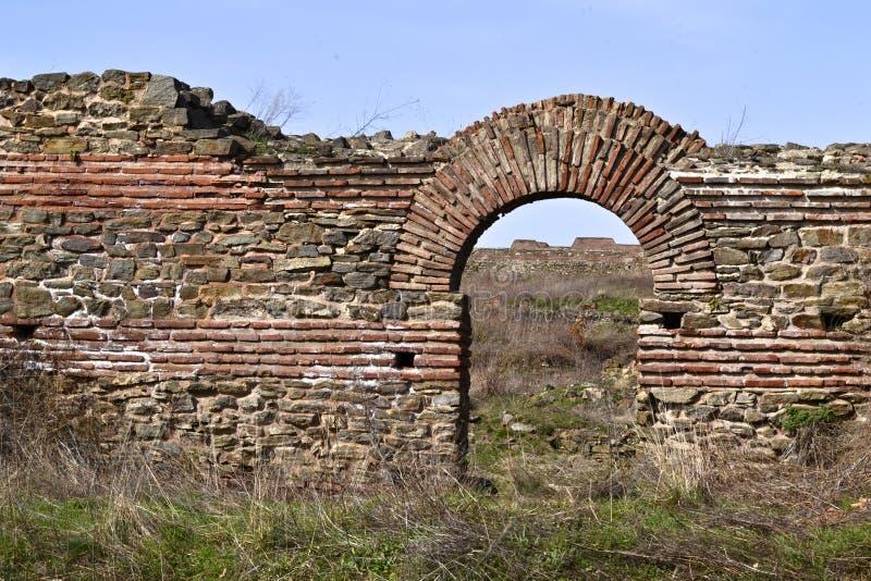 Justiniana Prima, Romański Bizantyjski miasto brama zdjęcie royalty free
